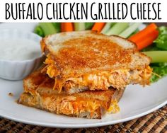 Buffalo Chicken Grilled Cheese Oh this has to be done....