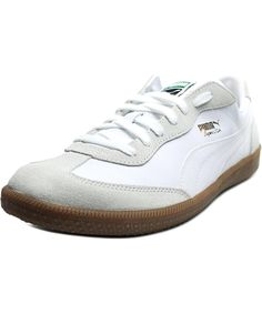 6cb68c84244 PUMA PUMA SUPER LIGA OG RETRO MEN ROUND TOE LEATHER WHITE SNEAKERS .  puma