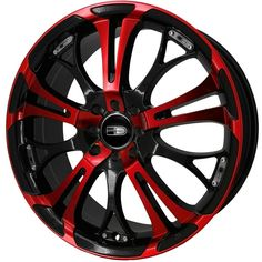 17 HD Tuning Spinout Wheels Red Rims Mustang Civic Caliber Fusion