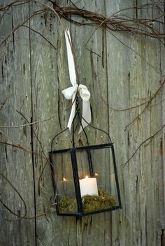 Rustic style candle light....