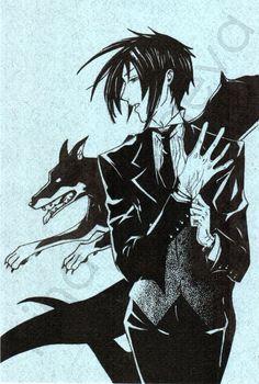 Sebastian Michaelis. Kuroshitsuji. Black Butler. fan art. ink. via Etsy.
