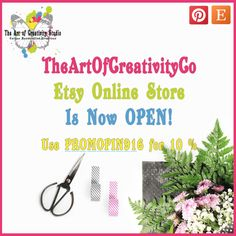 TheArtOfCreativityCo Etsy Online Store is Now Open - Use to receive a Discount, Available until 30 September Purchase Card, Studio Cards, 30 September, Community Boards, Paper Supplies, Handmade Art, Creativity, Paper Crafts, Store