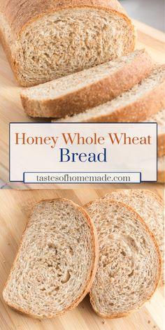 This honey whole wheat bread is light and fluffy. Easy to make using simple ingredients, this wholesome bread is perfect for sandwiches and toast. Sandwich Bread Recipes, Easy Bread Recipes, Skillet Recipes, Brioche Bread, Yeast Bread, Honey Wheat Bread, Best Homemade Bread Recipe, Delicious Sandwiches, How To Make Bread