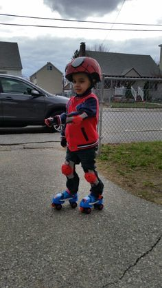 Rollerblading all over. Helmet, elbows and knees pads. Great day.