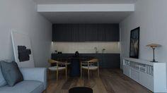 #Monika #Skowronska black modern kitchen www.monikaskowronska.pl