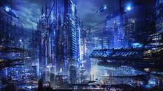 amazing future fiction city building HD wallpapers