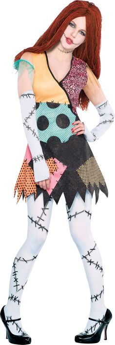 Adult Ragdoll Sally Costume - The Nightmare Before Christmas - Party City