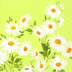 1294 V Servilleta decorada flores