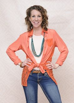 Anna K looks awesome in her Type 3 springy outfit! She's wearing the Courageous Coral top with the Exotic Jade Necklace! Get her look at the Dressing Your Truth Store: https://dyt.liveyourtruth.com/store/type3