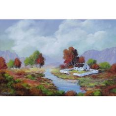 """""""MIDDELVLEI"""" (oil on stretched canvas : 900mm x 600mm x 30mm)"""