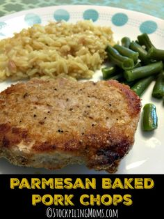 Parmesan Baked Pork Chops recipe has only 6 ingredients and tastes so good for dinner!