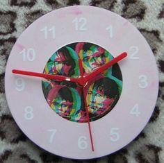 Pink Stranglers 7 Vinyl Wall Clock by Klicknc on Etsy