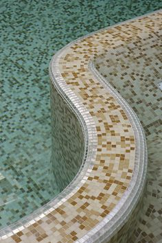 Trend #mosaic #tiles inside an indoor #pool #home #remodel