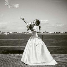 Spitbank fort wedding. Pronovias barcaza.