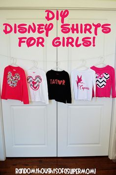 disney shirts for girls along with 33 Disney Crafts Ideas and Recipes for prepping for your trip to Disney World or Disneyland, or just wishing you were back there!
