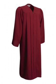 Matte Maroon Graduation Gowns
