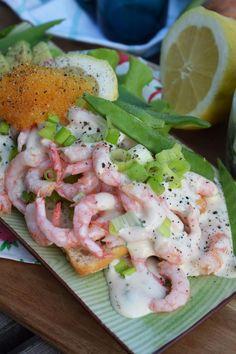 Pescatarian Diet, Food Fantasy, Starters, Potato Salad, Shrimp, Seafood, Sandwiches, Brunch, Health Fitness