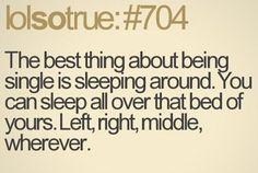 Sleeping around;)