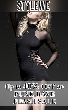 StyleWe is offering up to 40% discount on Punk Rave Flash Sale. Grab up now, offer is ending soon. For more StyleWe Coupon Codes visit: http://www.couponcutcode.com/stores/stylewe/