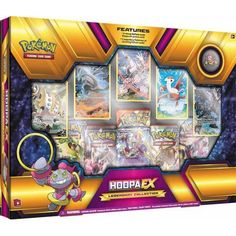 Hoopa-EX at Your Command! Summon up a powerful new Pokémon with the Pokémon TCG: Hoopa-EX Legendary Collection! The Mythical Mischief Pok&. Pikachu, Pokemon Sammelkarten, Pokemon Tins, Pokemon Store, Pokemon Trading Card, Trading Cards, Best Legendary Pokemon, Pokemon Original, Mega Mewtwo