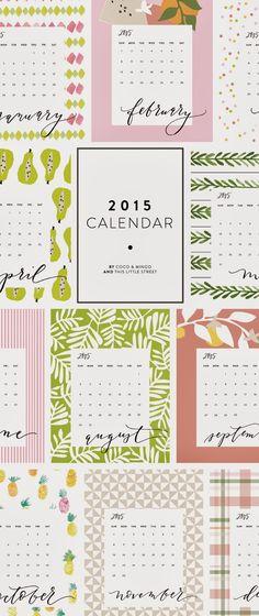 Lindos Calendarios imprimibles 2015