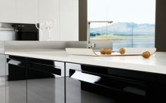 Nice Glossy Black And White Kitchen   Diana By Futura Cucine Pictures Gallery