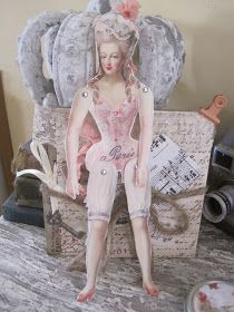 Okio B Designs: Marie Antoinette Paper Doll