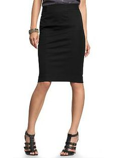 Pencil skirt; I'm thinking this skirt with the shrunken boyfriend gingham button up and the fair isle sweater.  Some booties and a clutch.  Then I can be warm and cute all at the same time.