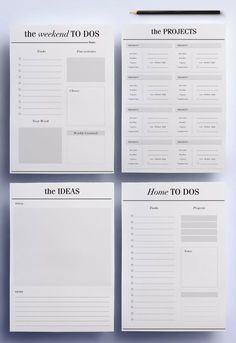 Im so happy to present my ultimate productivity planner pack; the perfect minimal pages for the To Do and Work section of your planner that To Do Planner, Project Planner, Monthly Planner, Planner Pages, Life Planner, Happy Planner, Printable Planner, Blog Planner, Printables