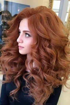 Nice 50 Elegant Women Style with Long Wavy Hair - Red Hair Redhead Hairstyles, Long Face Hairstyles, Hairstyles For Round Faces, Wedding Hairstyles, Layered Hairstyles, Pixie Hairstyles, Hairstyles 2016, Pretty Hairstyles, Long Curly Hair