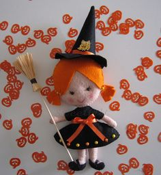 ♥♥♥ Mimi, a bruxinha do Bem ... by sweetfelt \ ideias em feltro, via Flickr