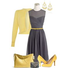 Spring Yellow & Gray