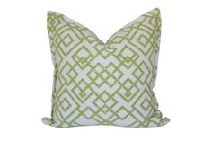 Green Cross Over Scatter Cushion by Elle Kay Fabrics