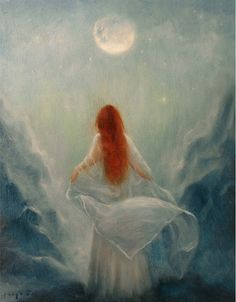 Poetry of theMoon Art Print From Original by PaintedMoonGallery