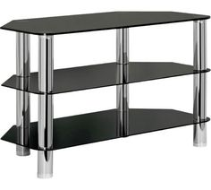 Buy HOME Matrix TV Unit - Black Glass at Argos.co.uk, visit Argos.co.uk to shop online for Entertainment units and cabinets, Living room furniture, Home and garden