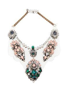 Beautiful SHOUROUK Iryana crystal clear-bib necklace
