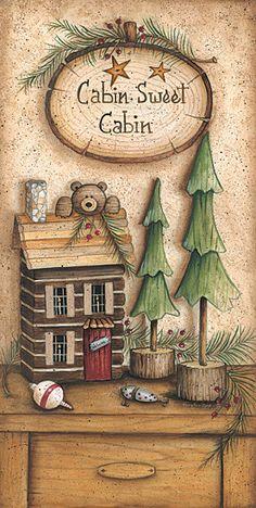 Oymacılık için My Baskılar Arte Country, Pintura Country, Country Crafts, Country Decor, Primitive Painting, Tole Painting, Painting On Wood, Christmas Decoupage, Christmas Art