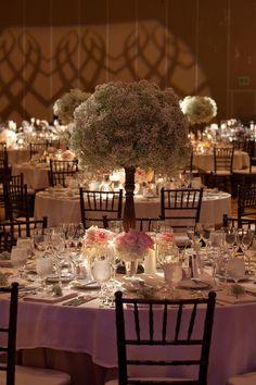 Cigliano Wedding - kathryn colby photography - Terranea Wedding - Baby's Breath Centerpieces