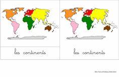 En Terre d'Enfance: Cartes de nomenclature: les continents