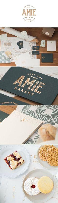 Identité visuelle / de marque pour les artisans boulangers et pâtissiers. Exemple de Amie Boulangerie. L'Atelier:
