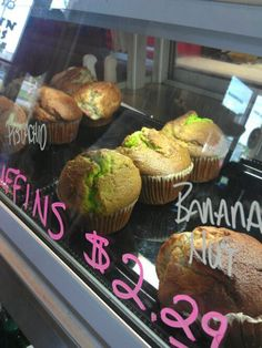 Pistachio muffins from Dunn Bros. Pistachio Muffins, Eat Your Heart Out, Rolls, Banana, Breakfast, Breads, Food, Morning Coffee
