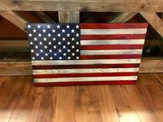 Excited to share this item from my shop: Weathered American Flag, Rustic American Flag, LWooden American Flag, American Flag Wall Art American Flag Wall Art, Small American Flags, American Flag Pallet, Pallet Flag, Wood Flag, Pallet Signs, Wooden Storage Crates, Red Oak Stain, Ceiling Art