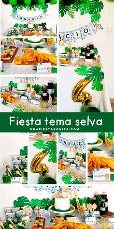 Ideas para decorar fiestas temáticas de cumpleñoas - Selva #selva #ideasfiestas #temaselva #cumpleañosselva