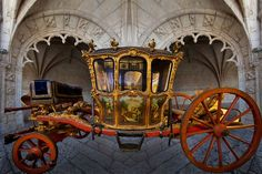 18th century carriage from the National Carriage Museum, Lisbon, Portugal