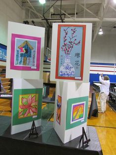 Steiner Ranch Elementary students' art works featured at the 2013 LISD art show; lessons by art teacher: Susan Joe