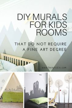 Last week I started designing theTwins big boy room, and shared my options for beds in shared rooms. This week, I'm taking things a step further and thinking about the walls. I would love the