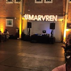When you have a hashtag that you want your guests to use when they post to social media there's no better way to remind everyone that I can think of. Not a bad look for my DJ booth either. #marvren - April 04 2017 at 02:45PM