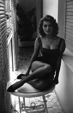 Sophia Loren photographed in Rome, 1956 by David Seymour