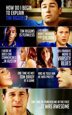 Friday Night Lights and Mean Girls- Elisabeth Ingram Ingram Davies this is for you Best Tv Shows, Best Shows Ever, Favorite Tv Shows, Favorite Things, Friday Night Lights, Tgif, Funny Videos, Tim Riggins, Light Quotes