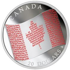 2018 $20 Canadian Flag - Pure Silver Coin Mint Coins, Silver Coins, Canadian Coins, Gold Stock, Gold Bullion, True North, Red Band, Coin Collecting, How To Know
